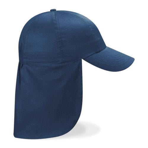 Navy Cap with Flap
